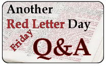Another Red Letter Day Q&A