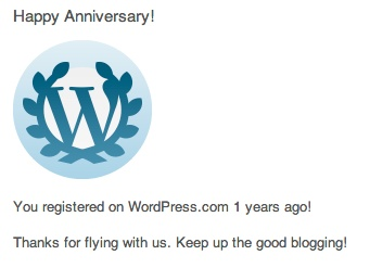Happy WP Aniversary