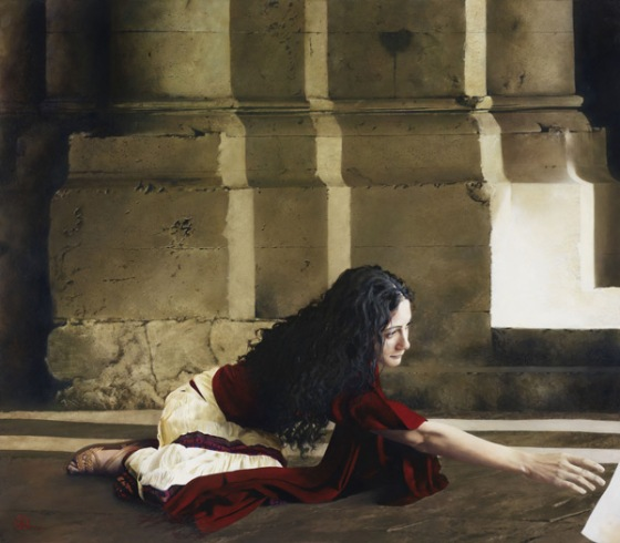"""I Shall Be Whole"" { The Woman with an Issue of Blood } Painted by Al Young http://alyoung.com/art/work-hem.html"