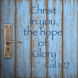 Christ in you on door