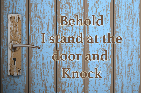 i stand at the door